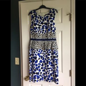 Leopard pattern David Meister dress, size 12US